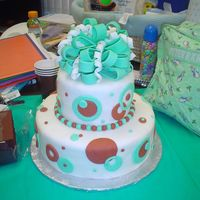 Teal And Brown Baby Shower For my daughter's teacher's baby shower in her classroom. Her favorite colors are brown and teal. Everything is fondant. Once...