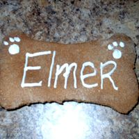 Homemade Dog Bone--1St Birthday This is a homemade dog bone with the dog's name written on it!! Its nothing special just wanted to show everyone that helped me with...