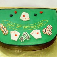 Poker Table This cake was done for a 50th birthday party where they were having Casino Night. Buttercream with fondant accents. Thanks to...