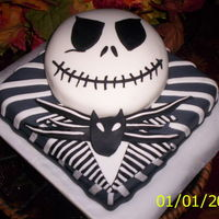 Jack, Nightmare Before Christmas   forgot to fix the date on my camera, but made this last night. oct 17,2009....now given up for a cake walk .......
