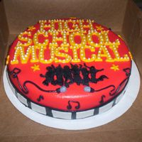 High School Musical THINK IM GETTING A LITTLE BETTER WORKING WITH THIS FONDANT. (PRACTICE, PRACTICE PRACTICE. )ANY WAYS FONDANT OVER BUTTERCREAM FROSTING,...
