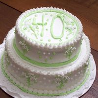 40Th Birthday Cake Two Tier cake