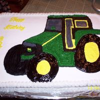 Tractor john deere for nephew who want to farm just like dad, all buttercream