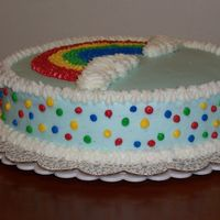 First Rainbow Cake Well, the pictures are mixed up, but you get the idea.