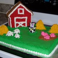 Barnyard Birthday Here is my first attempt at buttercream animals.