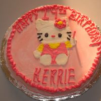 Hello Kitty Cake Only my second attempt at decorating.. again.. gentle is good.. but i could use some tips!