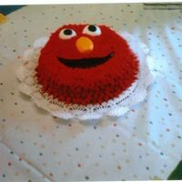 Elmo Smash Cake My first smash cake! gs 1st birthday. b/c icing,fondant eyes nose & mouth!