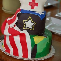 Military Nurse A friend of mine is going back into the Army as a Nurse. This was her going away cake!. TY for all the help with the design CC :)
