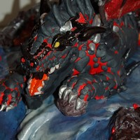 Deathwing Wow This cake is probably my favorite. RCT deathwing, covered in fondant.