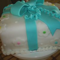 My First Fondant Cake View from another angle
