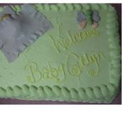 Baby Shower Cake chocolate cake with white chocolate cream cheese frosting