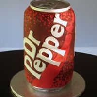 "Dr. Pepper Fondant Dr. Pepper can. Dimensions are 16""x7""."