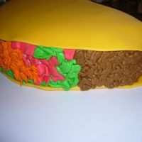 Taco Cake I made this a while ago for Cinco de Mayo...simple & fun!