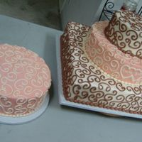 Coral And Cream W/scroll I love scrollwork. It's my new favorite design. All buttercream.