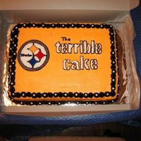 The Terrible Cake Quick and dirty Steelers Cake for the big game party.