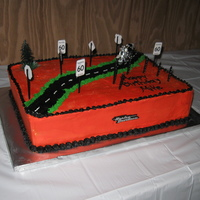 Mikes 60Th Birthday Harley Davidson Cake Harley Davidson 60th Birthday Cake..in Harley Colors (black / organge)