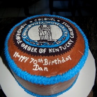 Kentucky Colonel   Chocolate cake w/ cbc. enhanced FBT of symbol. The person it was for loved it. TFL