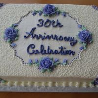 Lilac Anniversary This cake was done to match a birthday cake for the same party. This is what I came up with. Purple and lilac colors. 11x15 sheet cake,...