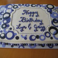 Dots This was done to go with a anniversary cake for the same party. She wanted both cakes to tie in with each other. She wanted to have the...