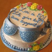 Blue Bra This is more of the side of the cake to show the strapes. Very fun cake to do. I'm happy with how this one turned out. Thanks for...