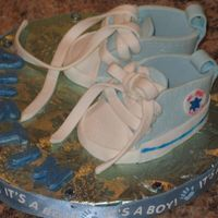 "Baby Shoes Thank you to all who posted these shoes! I had so much fun making them. The new ""Mom-to-be"" really liked them. Thanks for looking..."