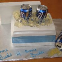 Some Buds This was done for a couple of friends. I got a kick out of doing this cake. They enjoyed it too. Choco cake with fondant and jello ice...