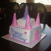 Princess Castle Cake This is my 2nd cake after completing my cake classes. This site has been so helpful for me.... Thanks guys! This was a buttermilk chocolate...