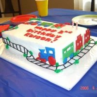 Side View Of Train Birthday Cake   Just a side view of the train birthday cake