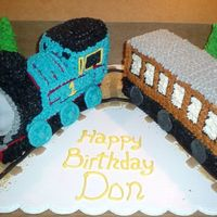 Train I borrowed ideas from a number of cakes in the gallery for this one. Thanks to everyone for posting your Thomas cakes.