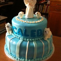 Angel Cake Made this cake for my Godchild's baptism.