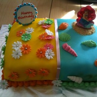 Split Cake Mermaid Daisies
