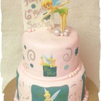 Tinkerbell My daughter chose Tinkerbell this year for her birthday so this is what I came up with. I wanted to make flowers but I just was not feeling...