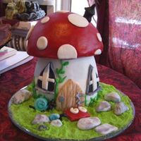 Mushroom House For mom's 60th B-day- From a Carol Deacon book