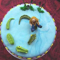 "Allies_Cake.jpg This cake is for my friend's daughter. Her name is Allie but her nickname is ""Gator""....all fondant."