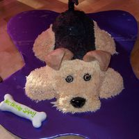 Lexi - Airedale Terrier I made this cake for my husband's birthday. He loves our dog more than just about anything. She's an Airedale Terrier but much...