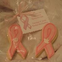 Cancer Ribbon Cookies NF cookie, covered with MMF, with Antiona's icing. Made these for a fundraiser for my sister for Relay for Life. We asked for a $5...