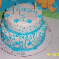 Boy's 1St Birthday!   This is the cake I made for my son's first Birthday!