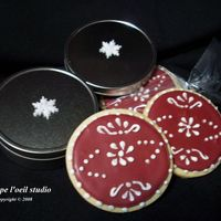 Scandinavian Holiday Cookies Very, very, very large order of Holiday Cookies for employees of the corporation supply division. They wanted it to look Holiday but not...