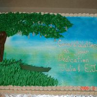 Cajun Themed Cake This was a dedication for a Cajun Heritage festival. They wanted it to be themed toward the swamp