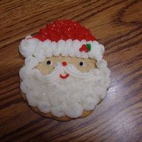 Santa Cookie sugar cookie with buttercream frosting