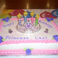 Princess Cake Chocolate cake with vanilla frosting. Princess cake for my grandaughters 4th Birthday. Easy cake
