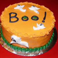 Ghost Cake All buttercream 8 inch ghost cake.