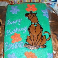 Scooby Doo All buttercream, Scooby is a FBCT. (my first)