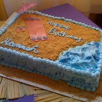 Luai Birthday IMBC with graham cracker sand and fondant accents