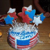 July 4Th Birthday stars are sugar cookies, the rest is b/c
