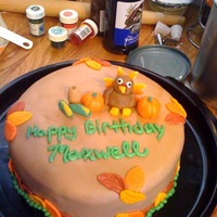 Thanksgiving/birthday All fondant
