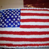 American Flag buttercream icing