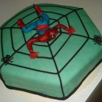 Spiderman_506_X_441.jpg Filled with vanilla cream and strawberry.Covered with marzipan.