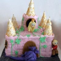 The Princesse And The Dragon Chocolate cake wiht sugarpaste
