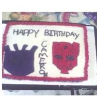 Tansformers Cake this is my first ever drawing cake i did it all free hand i think it cameout horribble......